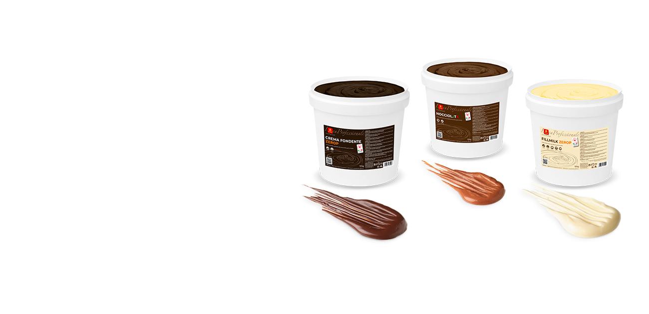 L'alta qualità degli ingredienti selezionati e delle polveri di cacao ICAM caratterizza creme e ricoperture che offrono ai professionisti prodotti qualitativamente eccellenti e dalla massima resa. Alla storica gamma di creme, ICAM ha affiancato nuovi prodotti spalmabili.