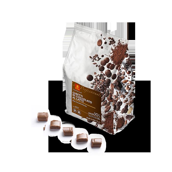 Cubes of Milk Chocolate